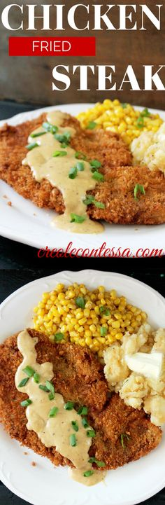 Chicken Fried Steak-Creole Contessa