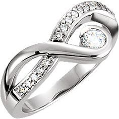 14K White Right Hand Ring Mounting