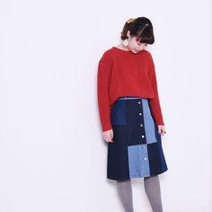 POUDOUDOU  STAFF COORDINATE ---------------------------------------------------- (model sakuma from atre kawagoe )  knit 5200tax skirt 5900tax  #poudoudou#pdd16aw