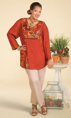 Larkin Blouse / MiB Plus SIze Fashion for Women / Spring Blouse / Upper Plus Size Fashion / http://www.makingitbig.com/product/larkin-blouse/plus-size-tops-shirts-and-blouses