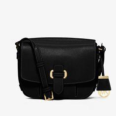 ed3a11e700a039 MICHAEL Michael Kors Romy Medium Leather Crossbody Bag Black Cheap Michael  Kors, Michael Kors Designer