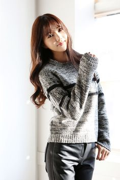 Lambswool Lined Knit Top