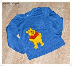 Tricouri pictate pentru copii/ Painted T-Shirts for Kids. - WINNIE THE POOH -