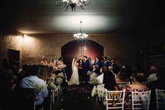 Tegan & Kieran - Flaxton Gardens Barrel Room Wedding Ceremony.  Wet weather option.  {Photography by Bernadette Draffin}