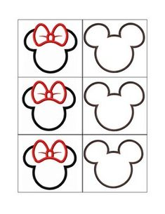Mickey and Minnie Mouse Classroom Labels