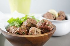 Paleo and AIP beef meatballs flavored with anti-inflammatory garlic, ginger, and cilantro with a touch of lime flavor! Everyone will love these!