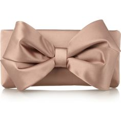 Valentino Bow Satin Clutch Bag
