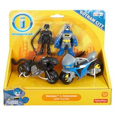 "Fisher-Price Imaginext DC Super Friends Batman & Catwoman with Cycles - Fisher-Price - Toys ""R"" Us"