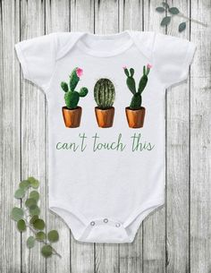 Let your baby do the talking with this funny cactus Cant Touch This design! Perfect for your southwest boho baby! https://www.etsy.com/listing/288450587/baby-clothes-funny-baby-clothes-trendy?ref=shop_home_active_4