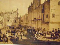 Calle de la profess, ahora Madero. 1860s