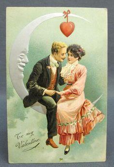 Antique Postcard Valentines Day