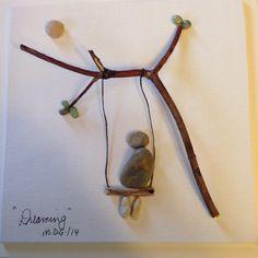 "Pebble Art by Denise "" Dreaming"""