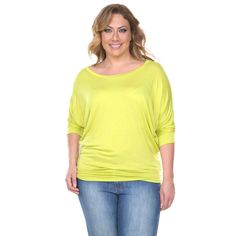 Plus Size Dolman Top - 12 Colors_Lime_1XLarge