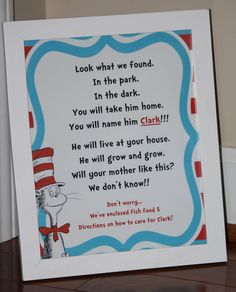 """If anyone has read """"The Cat in the Hat"""" book, by Dr. Seuss, you should be all too familiar with the responsible fish named """"Clark""""!  His ..."""