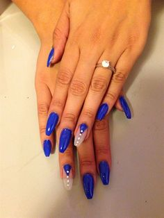 Blue Coffin Nails  by Mividaloka from Nail Art Gallery