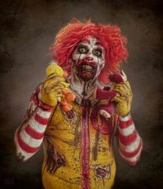 Of scary ass clowns came