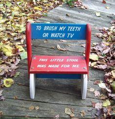Vintage child's children  step stool chair by Raidersoflostloot, $8.00