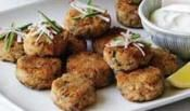 Fish Cakes With Lemon Cream-Great finger food and the perfect meal idea for cocktail parties. #recipes