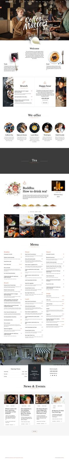 Restaurant Cafe - Theme for Restaurants and Cafes