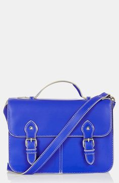 Topshop 'Edge Paint' Faux Leather Satchel, Small available at #Nordstrom