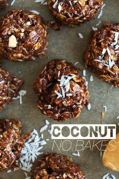COCONUT NO BAKE COOKIES! #vegan #glutenfree