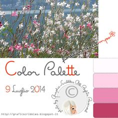 Fiorellini di campo - Color Palette of 9 Luglio 2014 http://graficscribbles.blogspot.it/2014/07/fiorellini-di-campo-color-palette-of-9.html