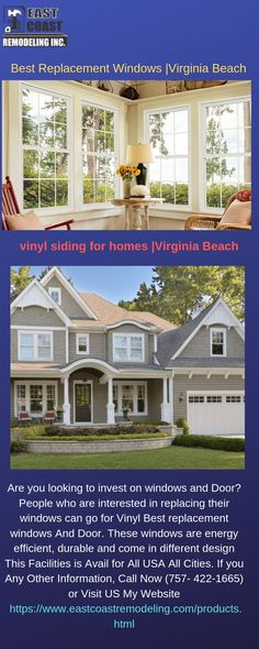 Looking for a siding installation service. We provide siding and replacement windows in Virginia Beach at affordable prices. Best Replacement Windows, Window Company, House Siding, Warm In The Winter, Vinyl Siding, Energy Star, Virginia Beach, Energy Efficiency, Windows And Doors