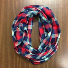 Flannel Infinity Scarf. If I ever wore a scarf.