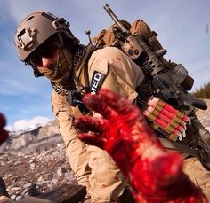 Remember the fallen, honor the sacrifice. Wear red on Fridays to Remember everyone deployed, for our Freedom their blood runs RED. Air Force Pararescue, Usaf Pararescue, Military Humor, Us Military, Us Army, Wear Red On Friday, Tactical Medic, Once A Marine, Remember The Fallen