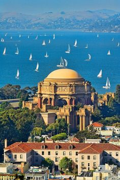 San Fancisco Architecture : Mitchell Funk – Sailboats: Palace of Fine Arts San Francisco San Francisco City, San Francisco Travel, San Francisco California, California Dreamin', Gta San Andreas, Palace Of Fine Arts, San Fransisco, Vacation Trips, Wonders Of The World