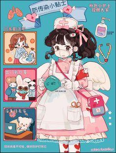 Kawaii Art, Kawaii Anime Girl, Anime Art Girl, Kawaii Drawings, Cute Drawings, Pretty Art, Cute Art, Character Art, Character Design