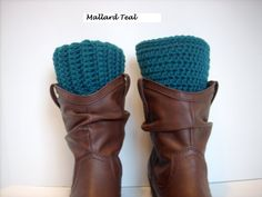 SALE Pic Color Size BOOT CUFFS Unisex Boot by KellyzVintageGarden