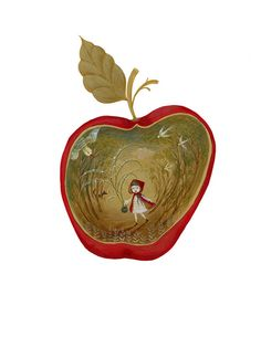 Little Red Riding Hood in a Red Apple. Elsa Mora