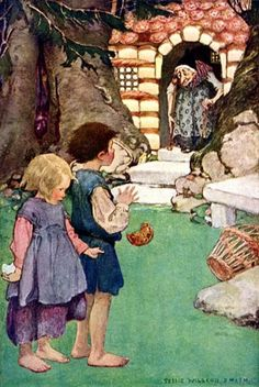 Hansel and Gretel by the Brothers Grimm Illustration by Jessie Wilcox Smith American Illustration, Children's Book Illustration, Jessie Willcox Smith, Hansel Y Gretel, Illustrator, Classic Fairy Tales, Vintage Fairies, Fairytale Art, Vintage Children's Books