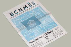 BCN Més newspaper redesign on Behance Graphic Design Art, Book Design, Typography Design, Magazine Layout Design, Newspaper Design, Newspaper Article, Magazine Editorial, Book And Magazine, Article Design