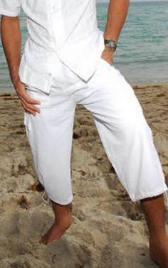 d5f746368541 ZAIR Organic Cotton Legs Drawstring Cargo Resort Men s Capri Pants