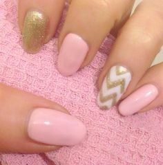 Gorgeous baby pink chevron nails  Shaanxo Sparkle Glitter