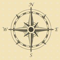 Alternate (simpler/more-traditional) compass tattoo idea
