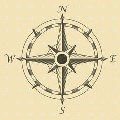 compass tattoo idea- Font and style. Less the ring