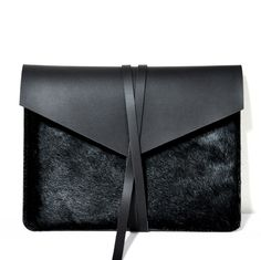"Handmade Black Leather MacBook Air 13"" Case/Holster /Cover/Bag/"