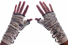 Alice in Wonderland Writing Gloves - Fingerless Gloves | Storiarts