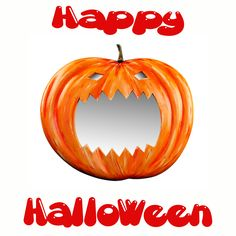 The Pumpkin Halloween Mirror from Marvellous Mirrors.com