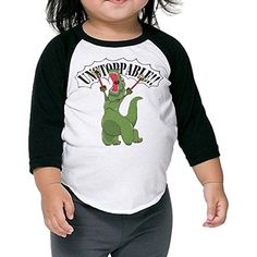 Lisenict Unstoppable T-Rex Child Round Collar Tee >>> You can get more details by clicking on the image. (This is an affiliate link) #Shirts