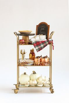 """Home Decor Learn even more info on """"gold bar cart"""". Visit our web site. Diy Bar Cart, Gold Bar Cart, Bar Cart Decor, Bar Chairs, Bar Stools, Counter Stools, Desk Chairs, Bar Tables, Bar Counter"""