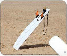 Luxlady Natural Rubber Gaming Mousepads A surfboard pushed into the sand at beach 9.25in X 7.25in IMAGE: 27573889 #Luxlady #Natural #Rubber #Gaming #Mousepads #surfboard #pushed #into #sand #beach #IMAGE: