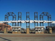 Entrance to Ohio Expo Center & State Fair in Columbus, Ohio shot by @scottamus