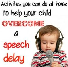 Here are some simple activities to do at home in helping a toddler with #speech delay. #LanguageDevelopment