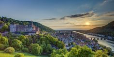 Explore the dramatic Heidelberg Castle, nestled in the hills above the college town of Heidelberg.