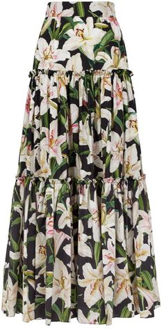 Harrods, designer clothing, luxury gifts and fashion accessories - Dolce & Gabbana Floral Tiered Maxi Skirt Muslim Fashion, Modest Fashion, Fashion Dresses, Apostolic Fashion, Modest Clothing, Elegant Dresses Classy, Dressy Dresses, Kids Dress Wear, Designer Plus Size Clothing