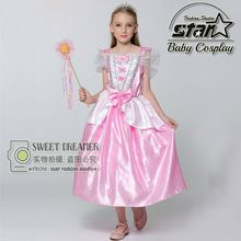 Little Mermaid Ariel Princess Cosplay Dress With Bow Halloween Costume For Children Girls Kids Birthday Party Ball Gown //FREE Shipping Worldwide //